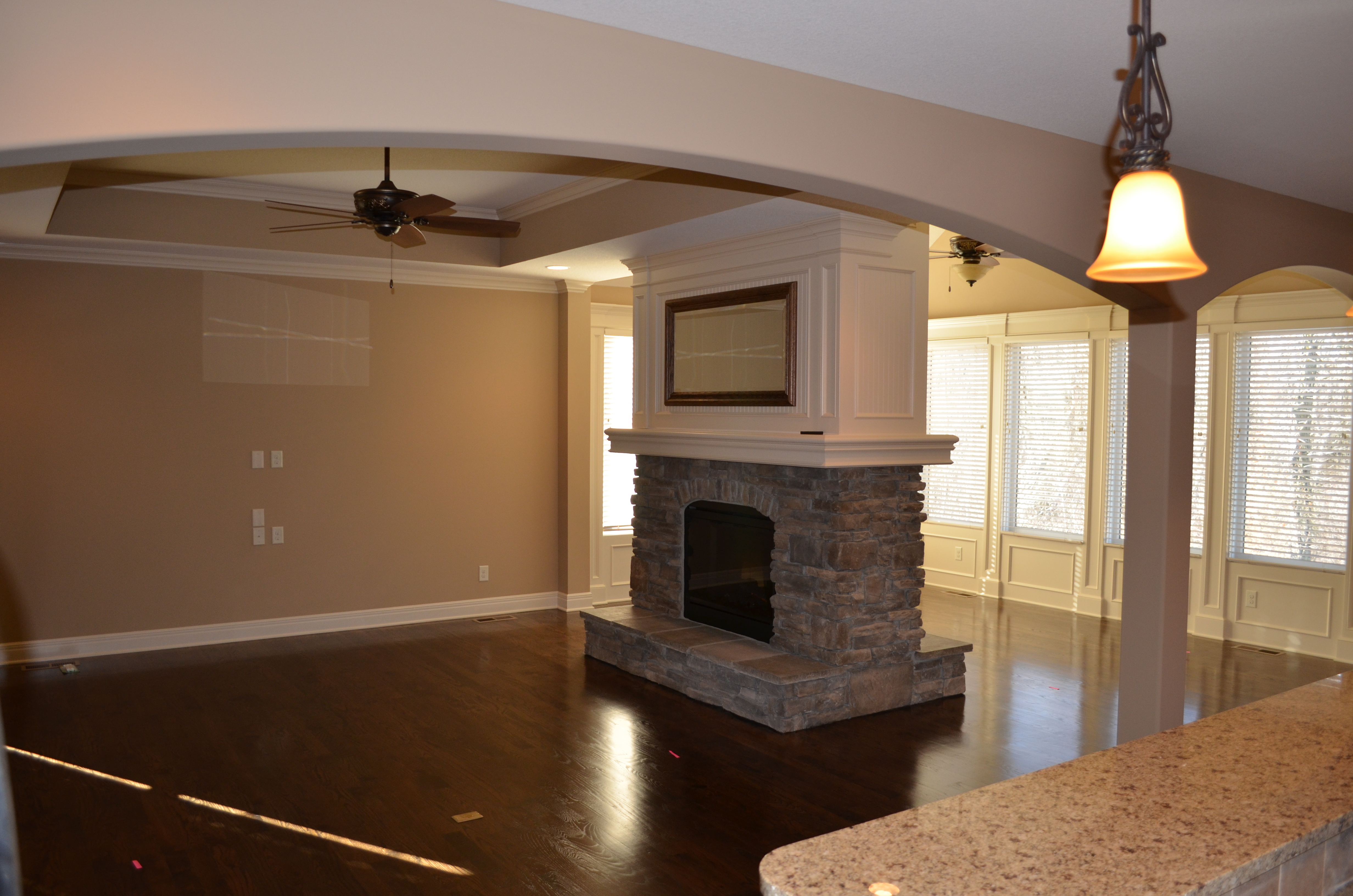 Sweetwater Creek New Homes in Spring Hill, KS Double Sided Fireplace