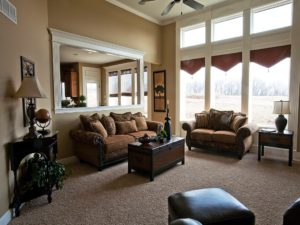 Sweetwater Creek New Homes in Spring Hill, KS Model Home living Room