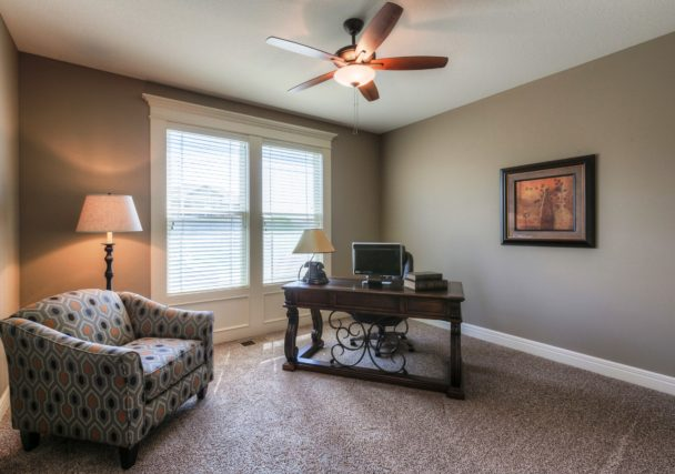 Sweetwater Creek New Homes in Spring Hill, KS The Orvieto Front Bedroom