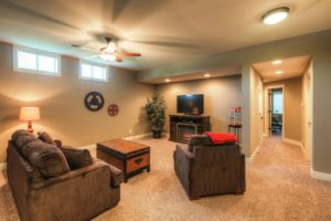 Sweetwater Creek New Homes in Spring Hill, KS Lower Level Living Room