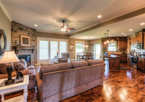 Sweetwater Creek New Homes in Spring Hill, KS The Orvieto Living Room