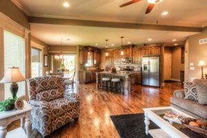 Sweetwater Creek New Homes in Spring Hill, KS Model Home Kitchen