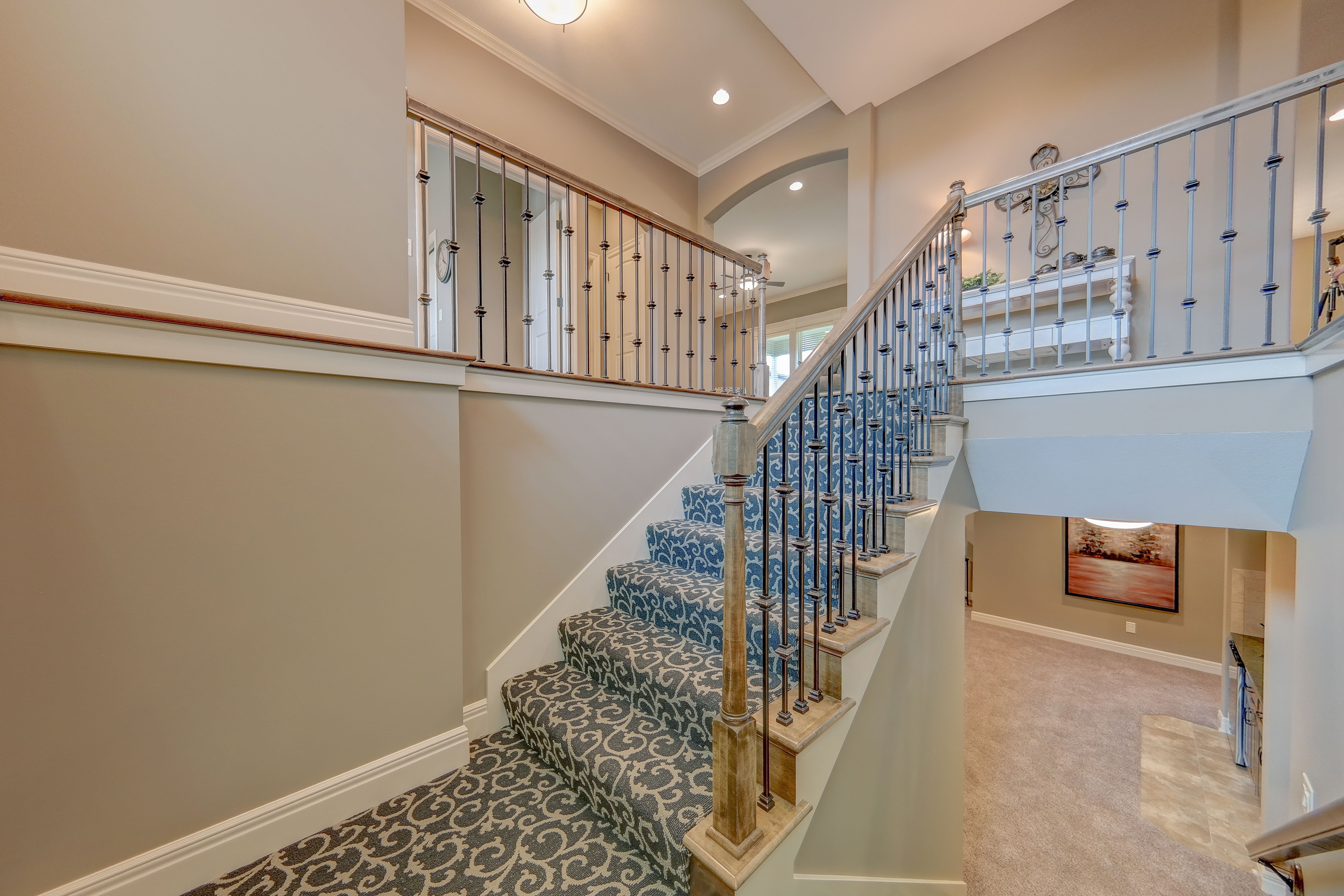 Sweetwater Creek New Homes in Spring Hill, KS The Clearbrook Stairway
