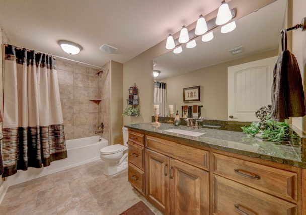 Sweetwater Creek New Homes in Spring Hill, KS The Clearbrook Lower Level Bathroom