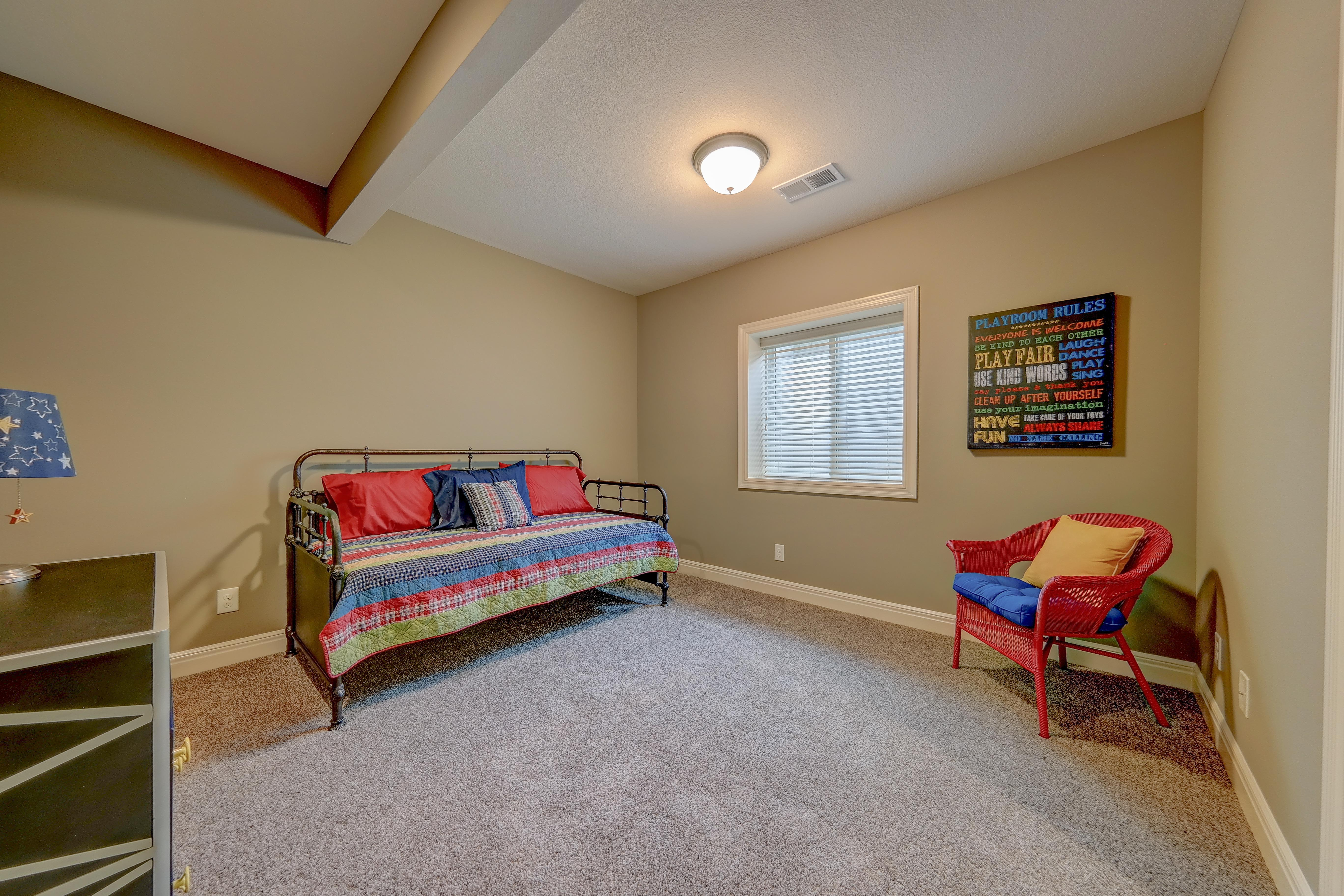 Sweetwater Creek New Homes in Spring Hill, KS The Clearbrook Lower Level Bedroom
