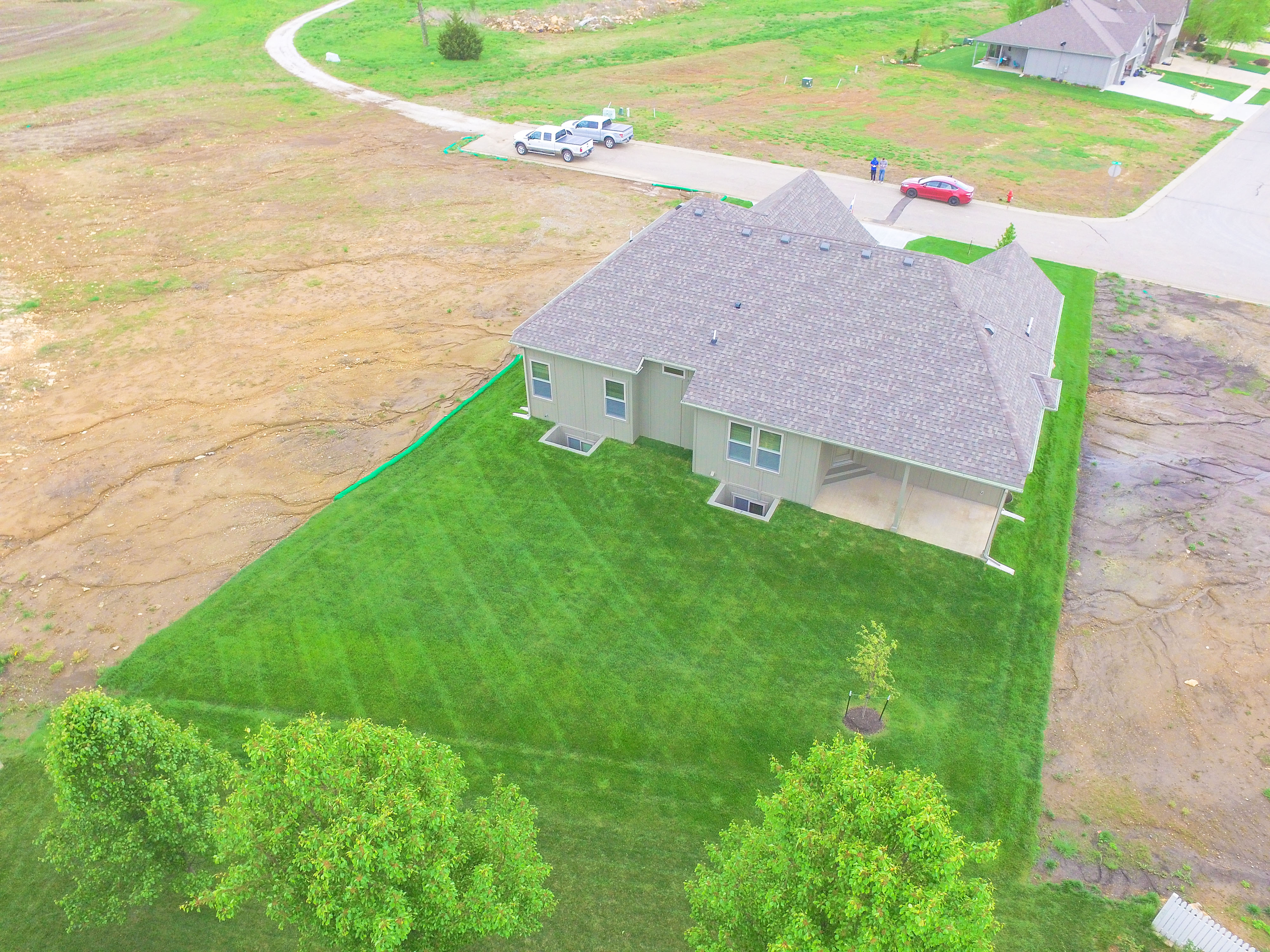 Sweetwater Creek New Homes in Spring Hill, KS The Clearbrook Drone