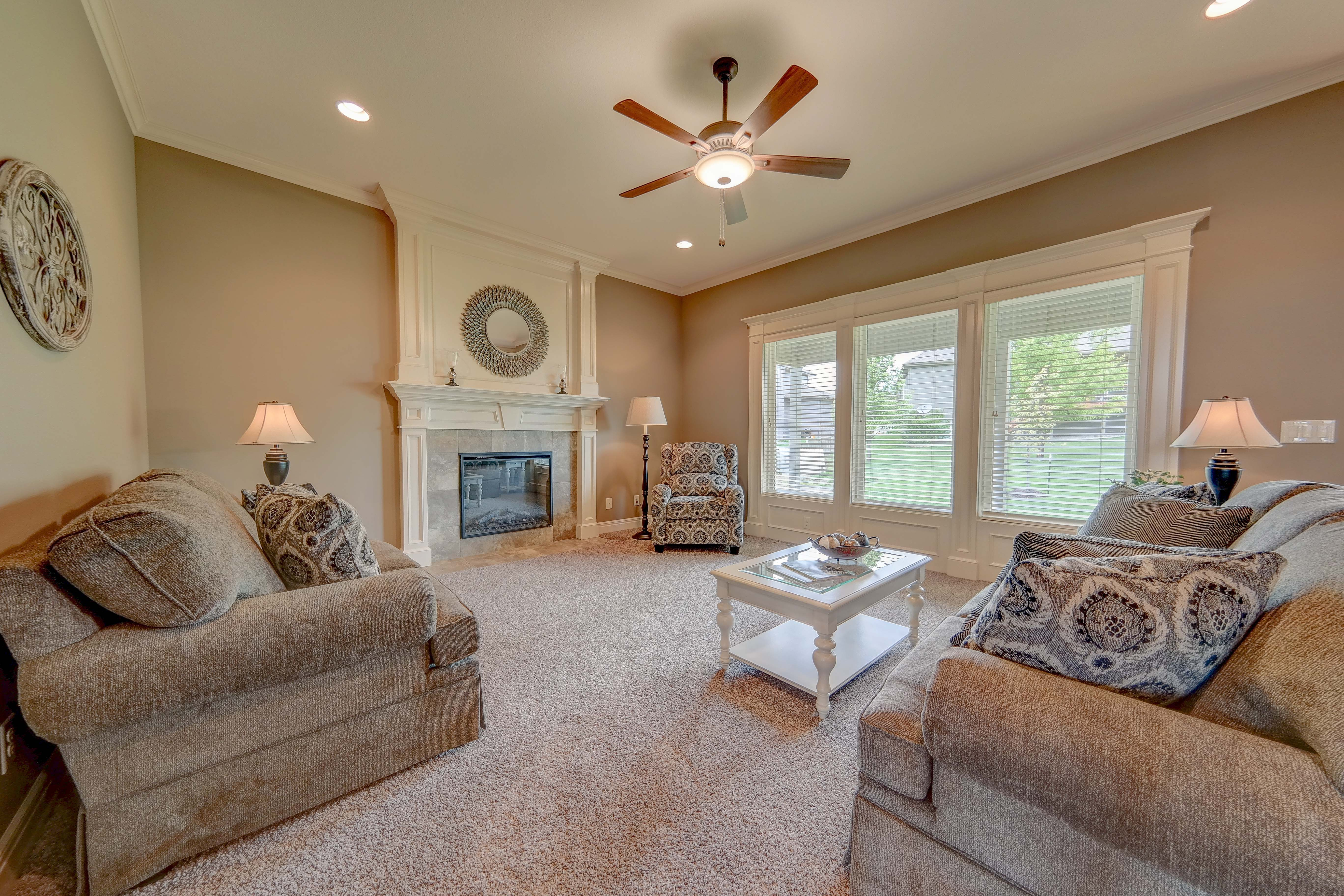 Sweetwater Creek New Homes in Spring Hill, KS The Clearbrook Living Room