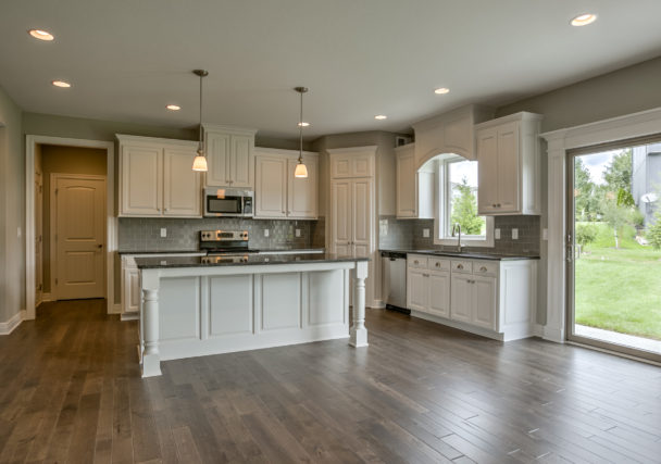 Sweetwater Creek New Homes in Spring Hill, KS Kitchen with Painted Cabinetry