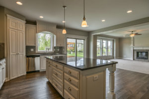 Sweetwater Creek New Homes in Spring Hill, KS The Creekwood Kitchen Island