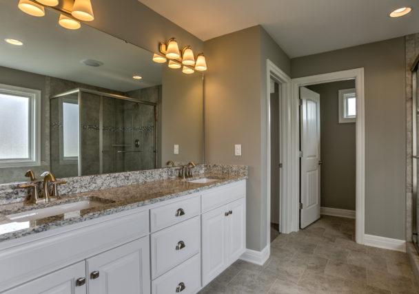 Sweetwater Creek New Homes in Spring Hill, KS The Creekwood Master Bathroom Vanity